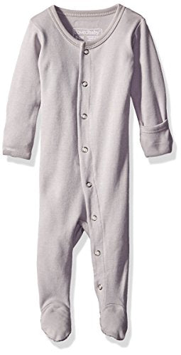 L'ovedbaby Organic Footed Overall - Light Gray - Bloom Kids Collection - L'ovedbaby