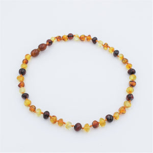 Lemon Vines Polished Multi Colored Baltic Amber Necklace - Bloom Kids Collection - Lemon Vines