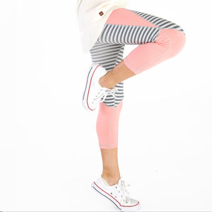 Tea Collection Colorblock Actve Crop Leggings - Bloom Kids Collection - Tea Collection