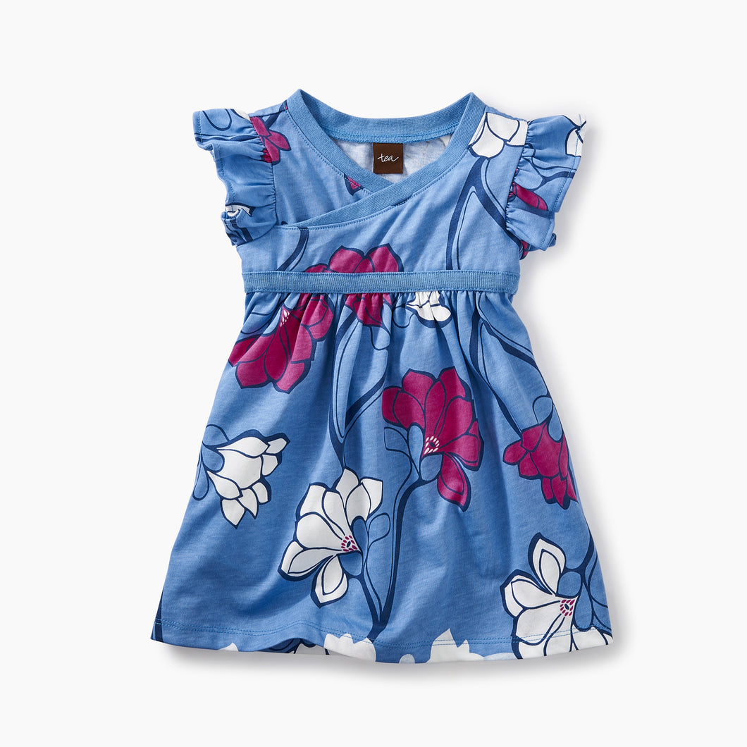 Tea Collection Wrap Neck Baby Dress - Bloom Kids Collection - Tea Collection