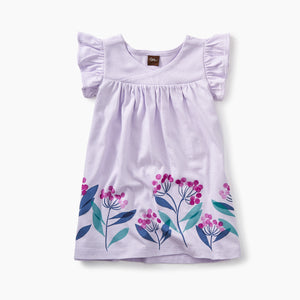Tea Collection Graphic Wrap Neck Baby Dress Wild LAVENDER