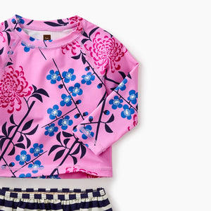 Tea Collection Mixed Print Rash Guard Set - Bloom Kids Collection - Tea Collection