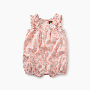 Tea Collection Ruffle Shoulder Romper - Bloom Kids Collection - Tea Collection