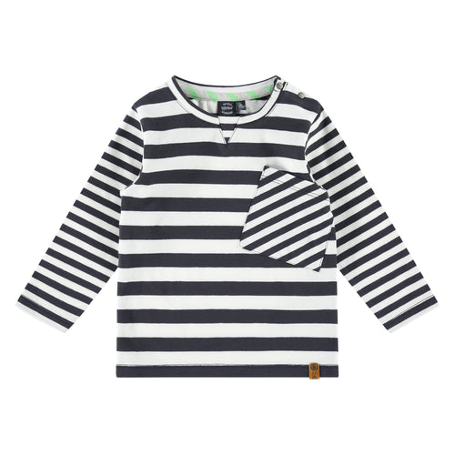 Babyface Boys Long Sleeve Tee - Dark Grey Stripe
