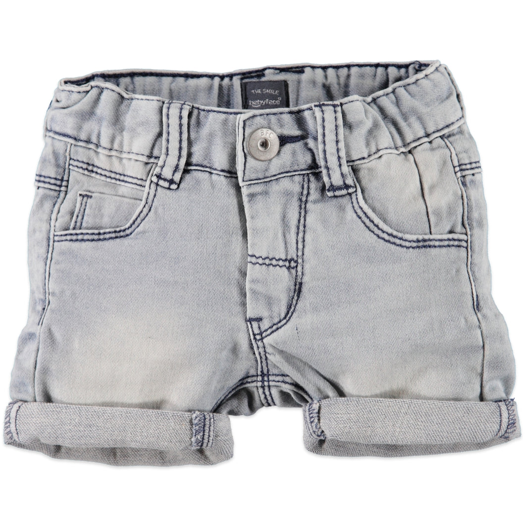 Babyface Boys Jogg Jean Shorts - Faded Blue - Bloom Kids Collection - Babyface