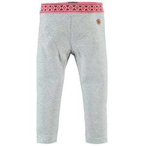 Babyface Girls Striped Legging - Grey