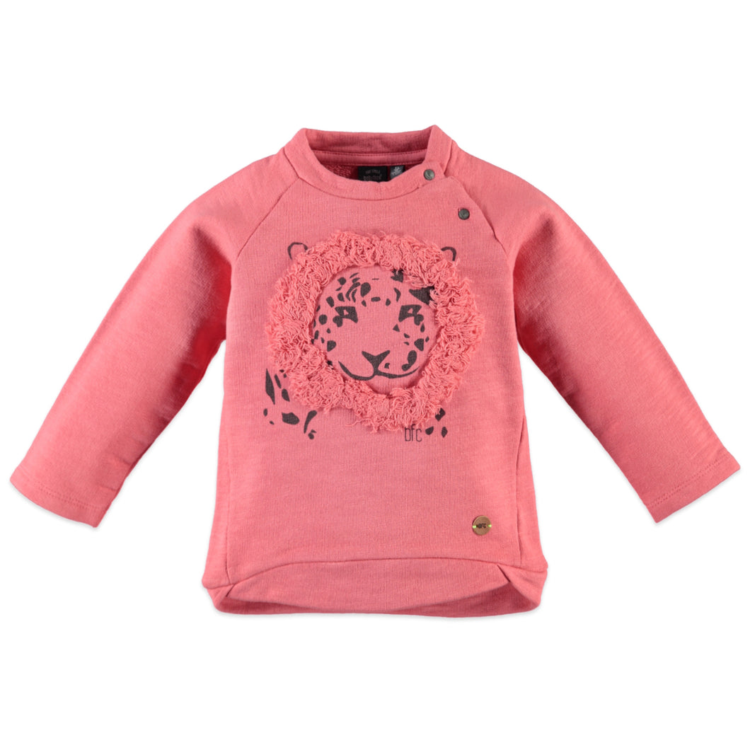 Babyface Girls Tiger Sweatshirt - Coral Pink - Bloom Kids Collection - Babyface