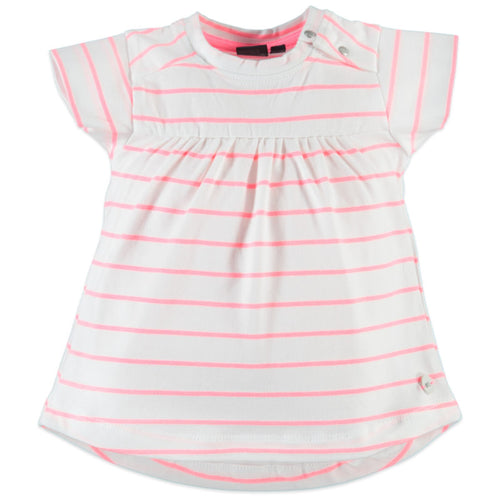 Babyface Girls Short Sleeve Gathered Top - Neon Pink - Bloom Kids Collection - Babyface