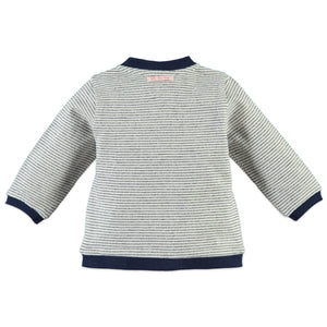 Babyface Baby Boys Cardigan - Cool Grey Melee - Bloom Kids Collection - Babyface