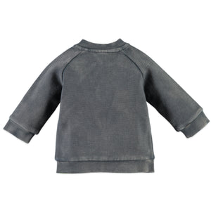 Babyface Boys Ribbed Zip-Up  - Concrete - Bloom Kids Collection - Babyface