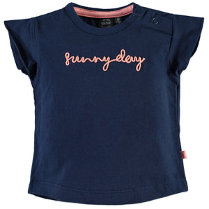 Babyface Baby Girls Short Sleeve T-Shirt - Midnight Blue - Bloom Kids Collection - Babyface