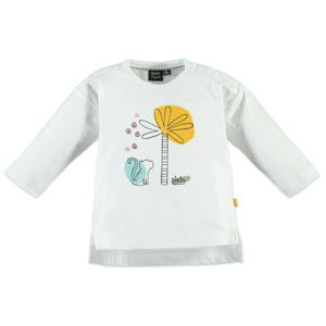 Babyface Girls Long Sleeve Safari Tee - Creme - Bloom Kids Collection - Babyface