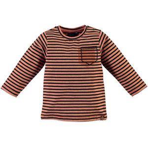 Babyface Boys Long Sleeve T-Shirt - Salmon - Bloom Kids Collection - Babyface