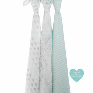 Aden and anais shimmer aqua swaddle