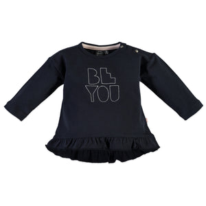 "Babyface Baby Girls ""Be You"" Long Sleeve- Black Navy - Bloom Kids Collection - Babyface"
