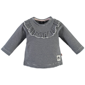 Babyface Baby Girls Striped Long Sleeve - Black Navy - Bloom Kids Collection - Babyface