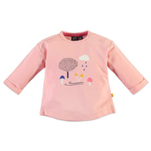 Babyface Baby Girl Long Sleeve T-Shirt - Light Coral - Bloom Kids Collection - Babyface