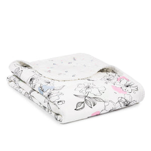 Aden + Anais Silky Soft Stroller Blanket - Meadowlark - Bloom Kids Collection - Aden + Anais
