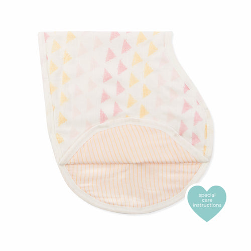 Aden + Anais Silky Soft Burpy Bib - Metallic Primrose Birch - Bloom Kids Collection - Aden + Anais
