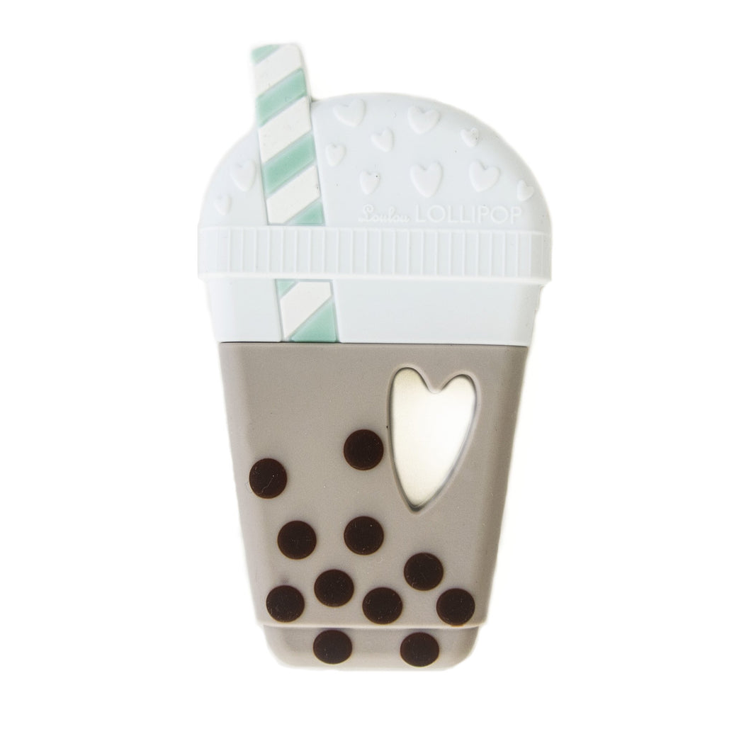 Loulou Lollipop Teether - Bubble Tea Taupe - Bloom Kids Collection - Loulou Lollipop