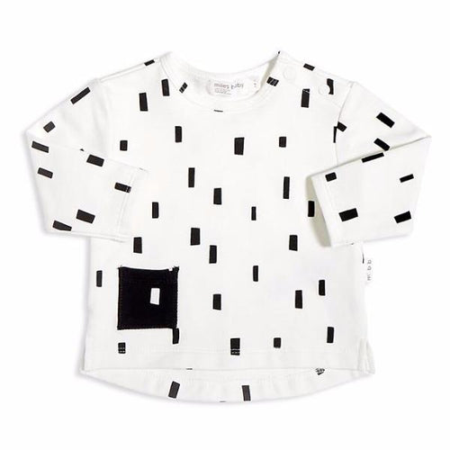 Miles Baby From the Block White and Black Long Sleeve - Bloom Kids Collection - Miles Baby