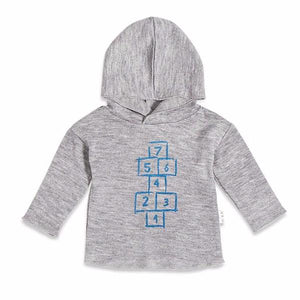 "Miles Baby Play All Day ""From the Block"" Hopscotch Hoodie Sale - Blue Bloom Kids Collection"