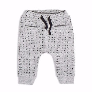 "Miles Baby ""From the Block"" Splashed Printed Jogger Pant - Bloom Kids Collection - Miles Baby"