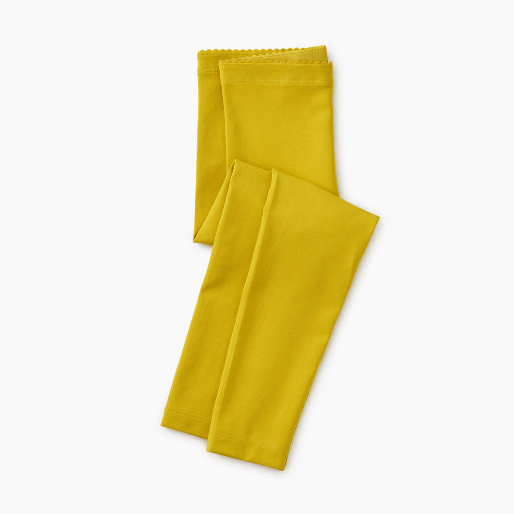 Tea Collection Solid Leggings - Goldenrod - Bloom Kids Collection - Tea Collection
