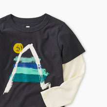 Tea Collection Painted Everest Graphic Layered Tee - Bloom Kids Collection - Tea Collection