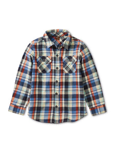 Tea Collection Flannel Plaid Shirt - Trekking Plaid - Bloom Kids Collection - Tea Collection