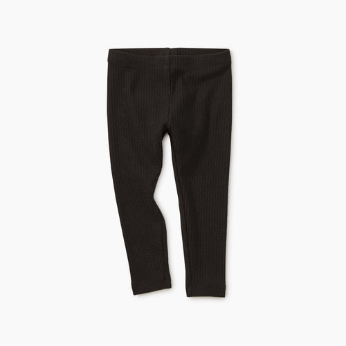 Tea Collection Pointelle Leggings - Jet Black