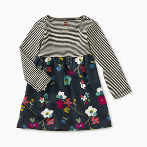 Tea Collection Two-Tone Dress - Himalayan Blossoms - Indigo