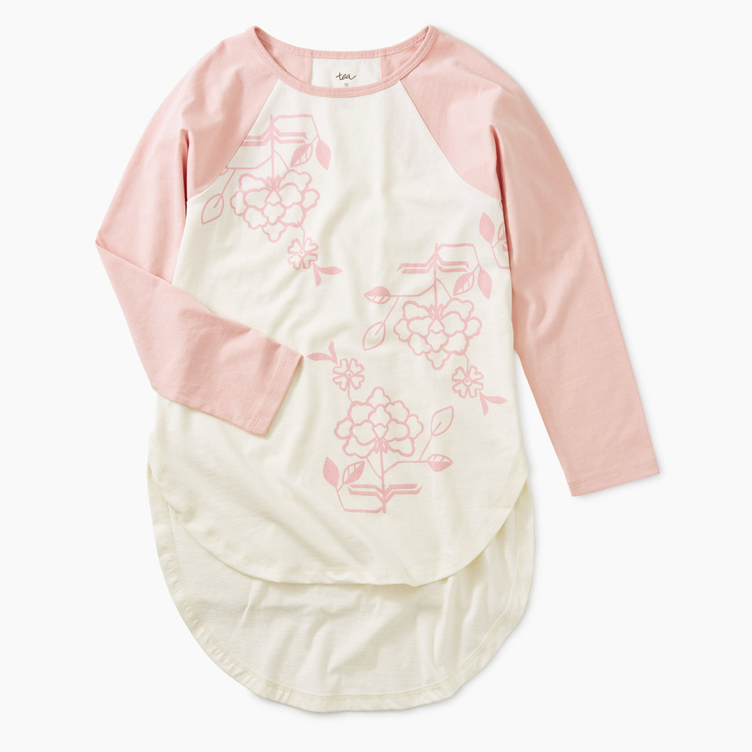 Tea Collection Floral Tee - Chalk - Bloom Kids Collection - Tea Collection