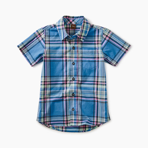Tea Collection Madras Woven Shirt - Seabreeze Plaid