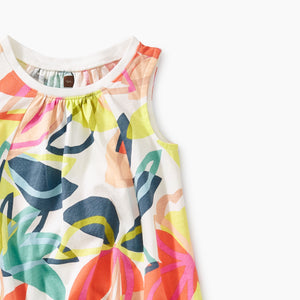 Tea Collection Printed Trapeze Baby Dress - Tradewinds Floral