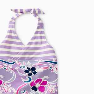 Tea Collection Patterned Halter One-Piece - Batik Floral - Bloom Kids Collection - Tea Collection
