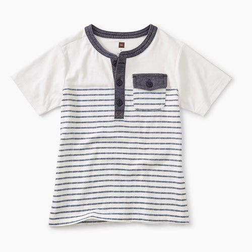 Tea Collection Striped Pocket Henley