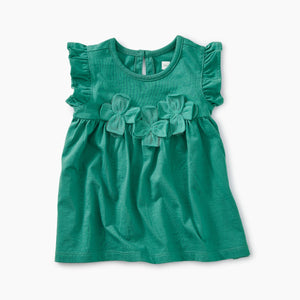 Tea Collection Floral Applique Tunic - Laguna - Bloom Kids Collection - Tea Collection