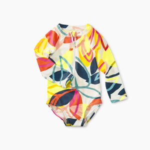Tea Collection Ptd Baby Rash Guard One Piece - Tradewinds Floral
