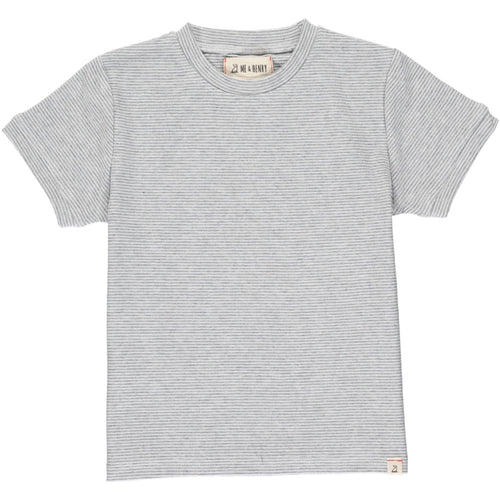 Me & Henry Camber Tee - Grey Micro Stripe