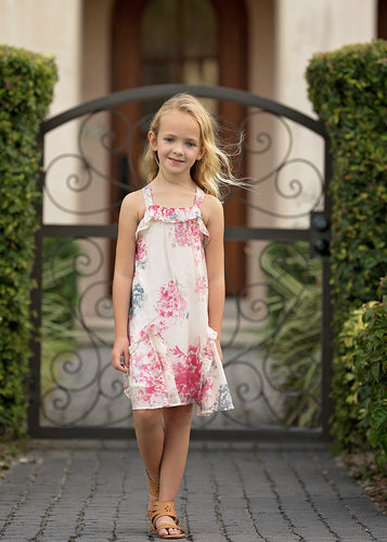 Isobella & Chloe Carnation Bloom Dress - Short