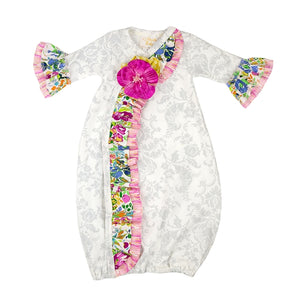 Haute Baby Floral Fantasy Newborn Take Home Gown - Bloom Kids Collection - Haute Baby