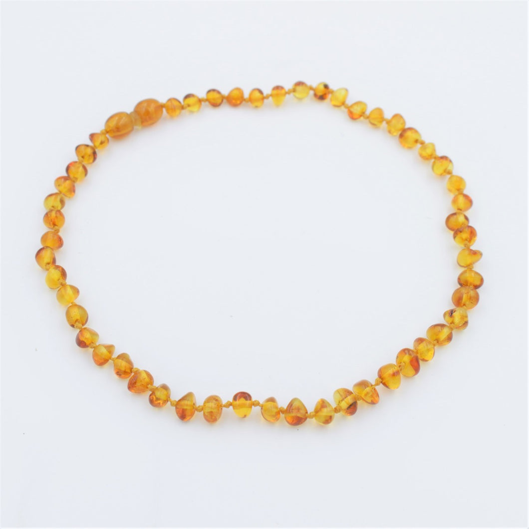 Lemon Vines Polished Honey Baltic Amber Necklace - Bloom Kids Collection - Lemon Vines