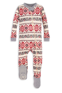 Burt's Bees Aspen Cabin Motif Sleeper - Heather Grey - Bloom Kids Collection - Burt's Bees