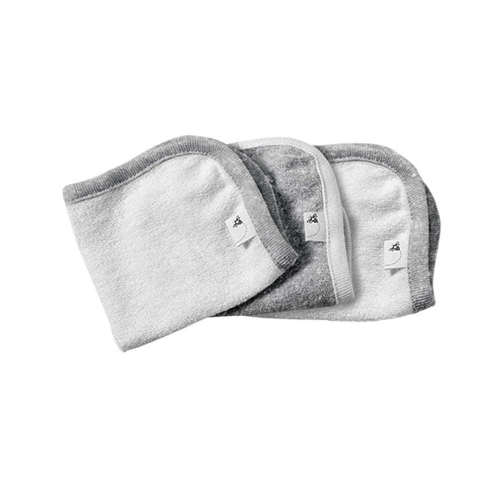 Burt's Bees 3pk Washcloths - Heather Grey - Bloom Kids Collection - Burt's Bees