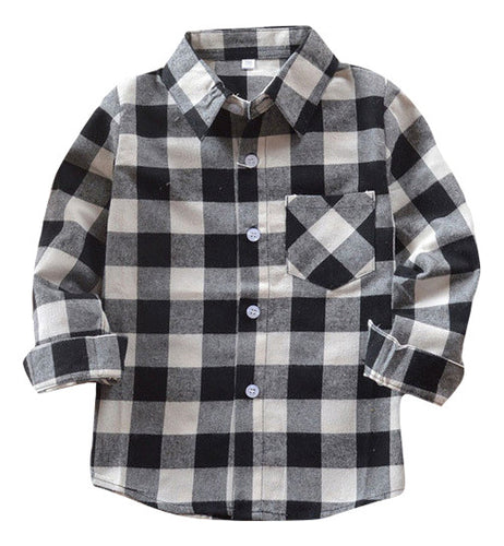 Black & White Checkered Button-Up - Bloom Kids Collection - Bloom Kids Collection