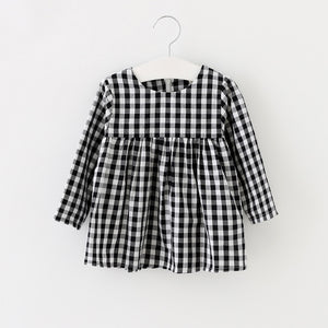 Black and White Check Tunic/Dress
