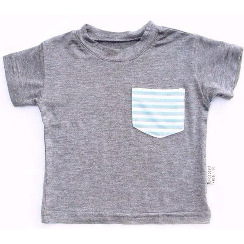Moon + Beck Classic Tee - Gray - Bloom Kids Collection - Moon + Beck