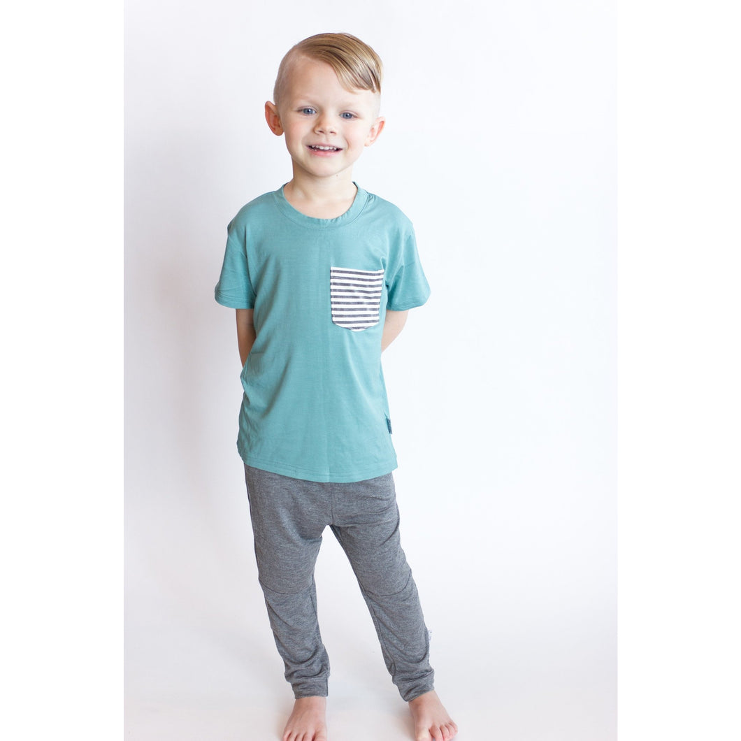 Moon + Beck Classic Tee - Blue - Bloom Kids Collection - Moon + Beck