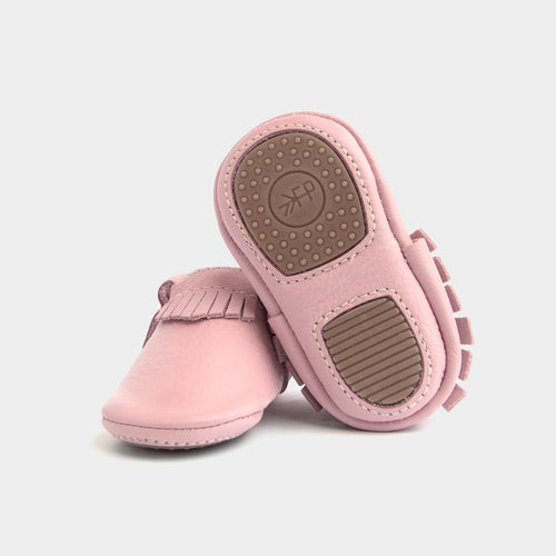 Freshly Picked Mini Sole Blush Moccasins - Bloom Kids Collection - Freshly Picked